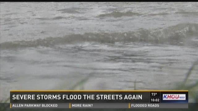 Severe storms flood the streets again