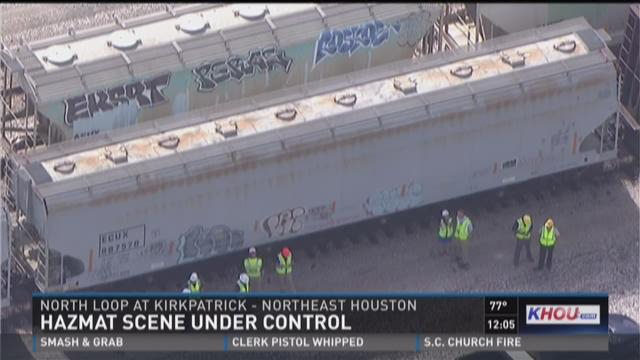 Hazmat scene under control in NE Houston