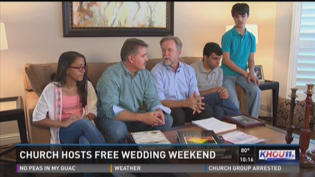 Church hosts free wedding weekend