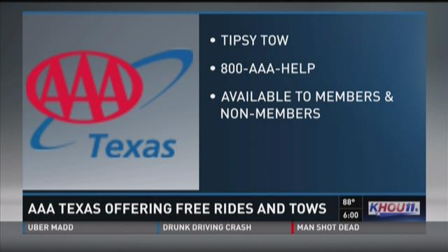 AAA Texas offering free rides and tows