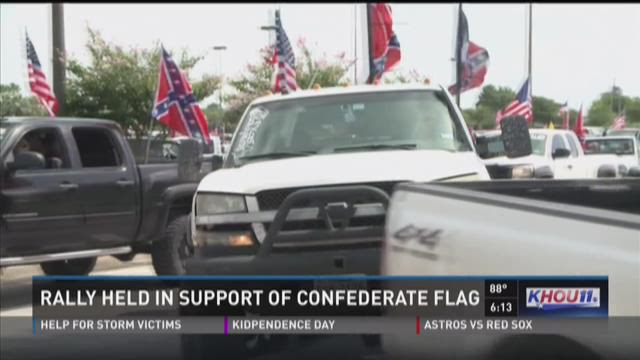 Rally held in support of Confederate flag