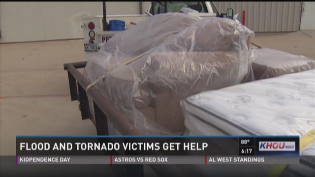 Flood and tornado victims get help
