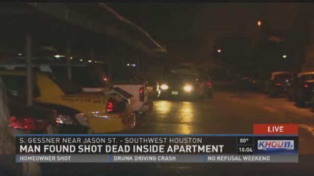 Man found shot dead inside an apartment