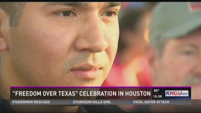 Retired Army sergeant receives new home during Freedom Over Texas celebration