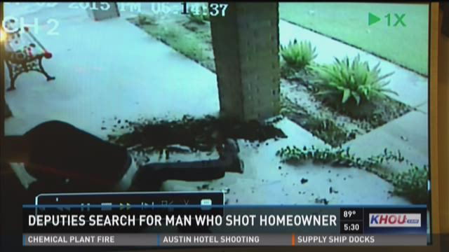 Deputies search for man who shot homeowner