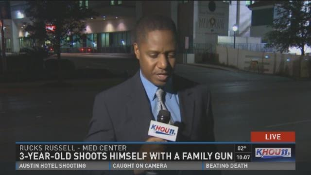 3-year-old shoots himself with a family gun