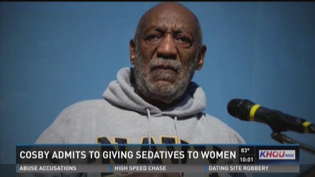 Bill Cosby admits to giving sedatives to women for sex