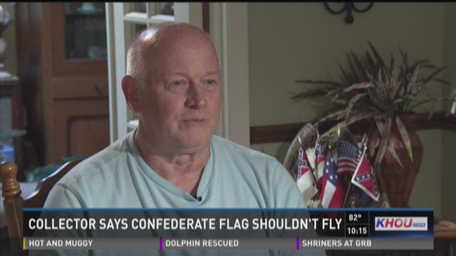 Local Civil War collector says Confederate flags shouldn't fly
