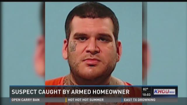 Burglary suspect caught by armed homeowner