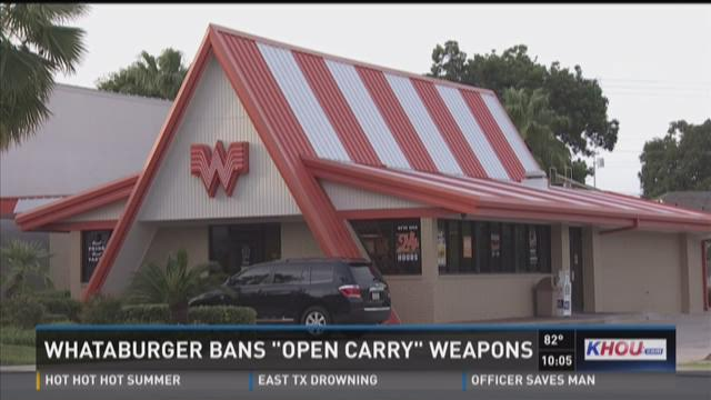 Whataburger bans 'open carry' weapons
