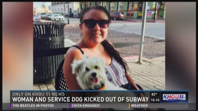 Woman upset after Subway turns away service dog