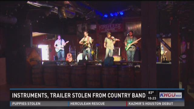 Instruments, trailer stolen from Texas country band