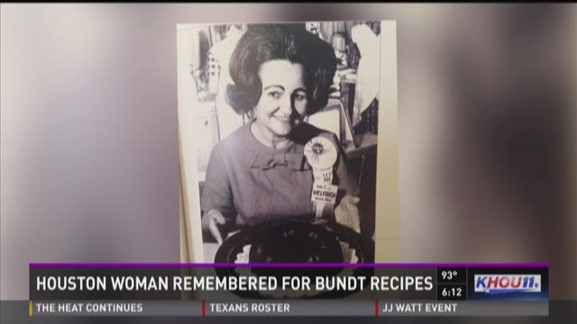 Houston woman remembered for Bundt cake recipes
