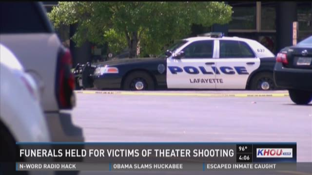 Funerals held for victims of Louisiana theater shooting