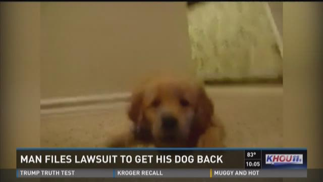 Man files lawsuit to get his dog back