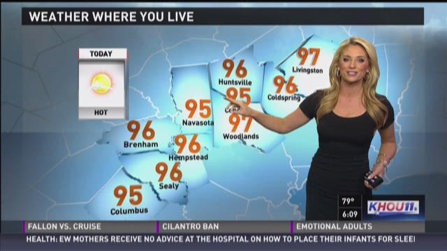 Houston Forecast for Tuesday morning