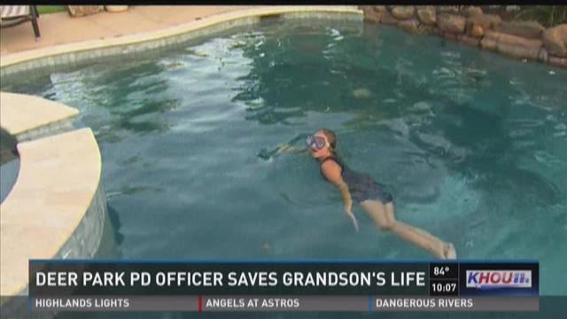 Deer Park PD officer saves grandson's life