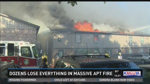 Dozens lose everything in massive apartment fire