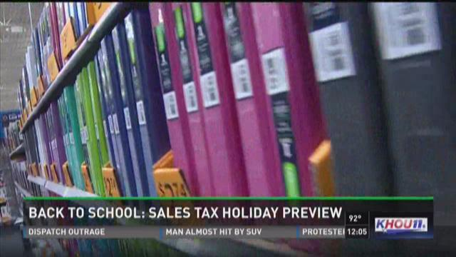 Back to school: Sales tax holiday preview
