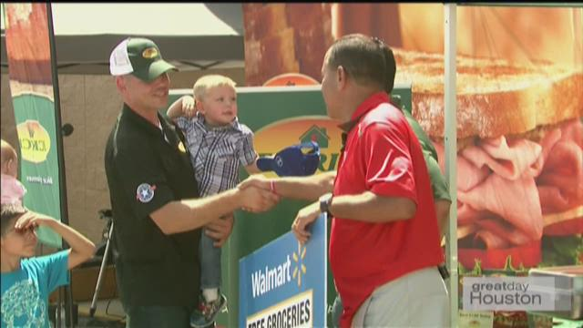 Military Family Gets Year of Free Groceries