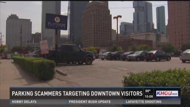 Parking scammers targeting downtown visitors