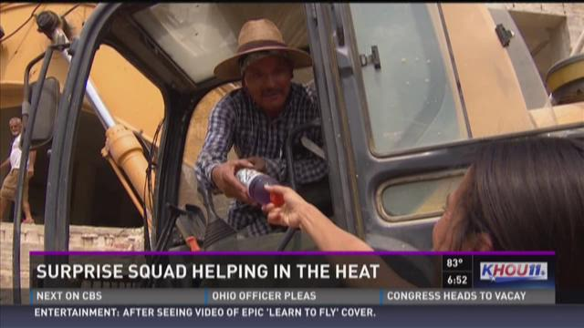 Surprise Squad helping out in the heat