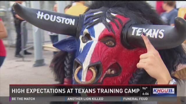 High expectations at Texas training camp