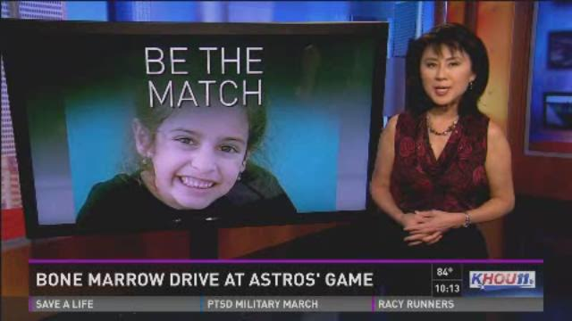 Bone marrow drive at Astros game