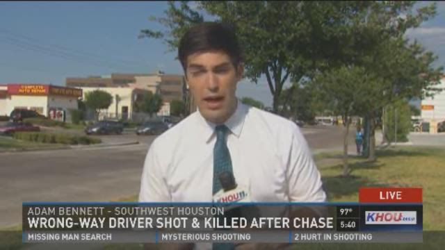 Wrong way driver shot and killed after chase