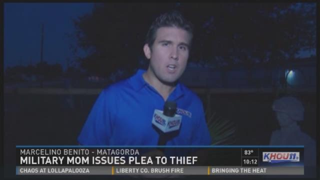 Military mom issues plea to thief
