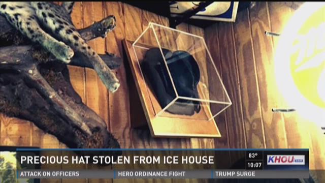Stolen hat represents memorial to former patron