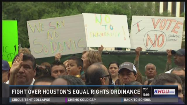 Fight over Houston's Equal Rights Ordinance