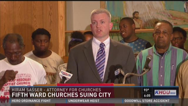 Fifth ward churches suing city