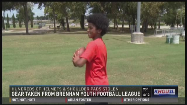 Equipment stolen from Brenham Youth Football League