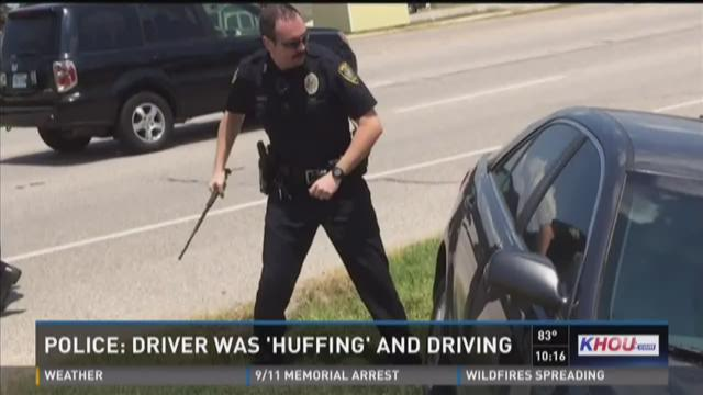 Officer arrests man for allegedly huffing duster cans, crashing car