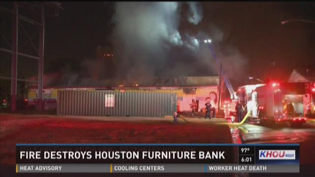 2 Alarm Fire Destroys Houston Furniture Bank