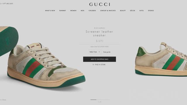 716d7903118 Gucci s  870 dirty sneakers come with cleaning instructions