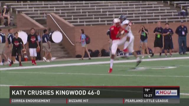 Katy crushes Kingwood, 46-0