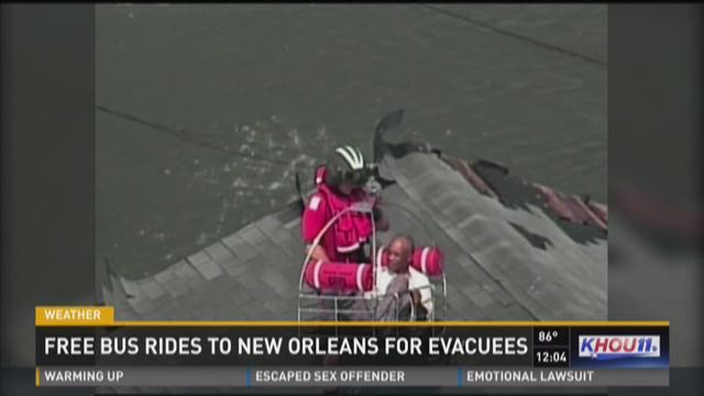 Free bus rides to New Orleans for evacuees