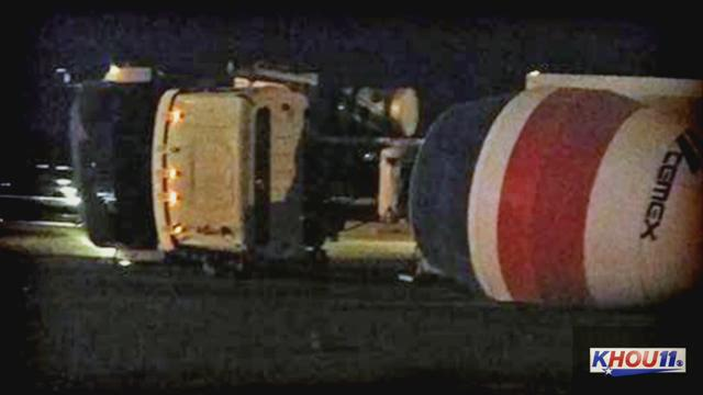 610 S. Loop closed near Almeda due to concrete truck spill