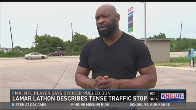 Former Houston Oiler describes tense traffic stop