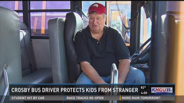 Crosby bus driver protects kids from stranger