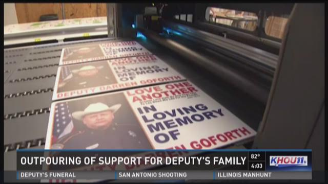 Outpouring of support for deputy's family