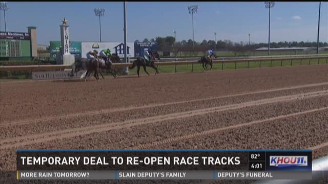 Temporary deal to re-open horse tracks