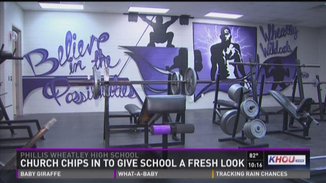 Church chips in to give school a fresh look