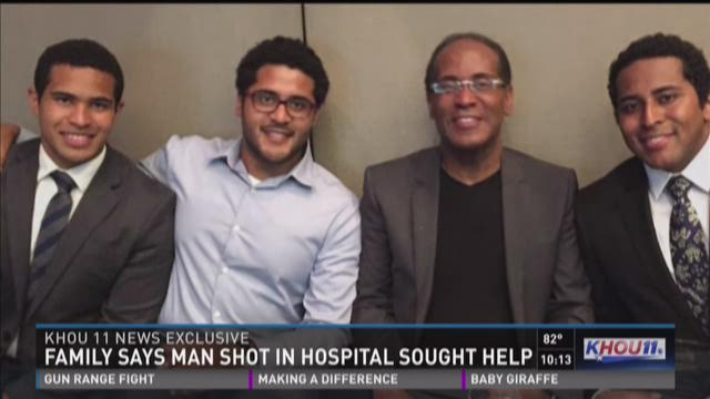 Family claims man shot in hospital sought help
