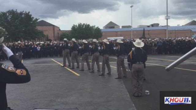 Sights and sounds from Deputy Goforth's funeral