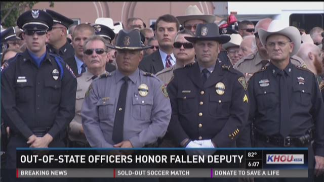 Out-of-state officers honor fallen deputy