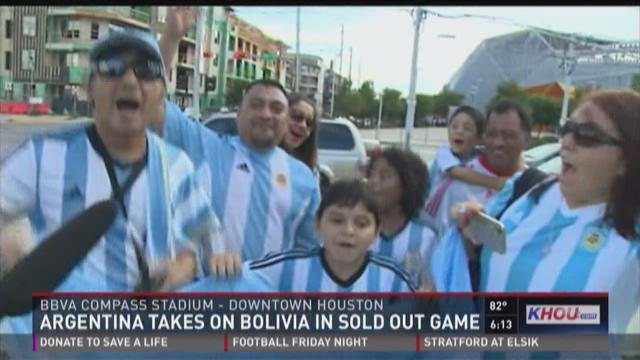 Argentina takes on Bolivia in sold out game
