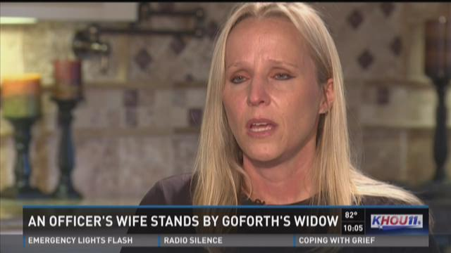 Local officer's wife stands by Goforth's widow
